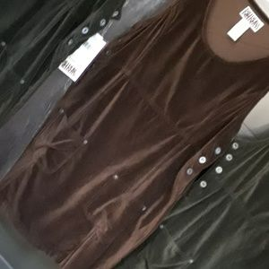 NWT dress in corduroy brow color